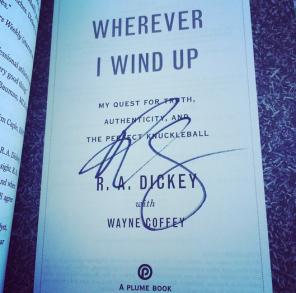 R.A. Dickey Autograph